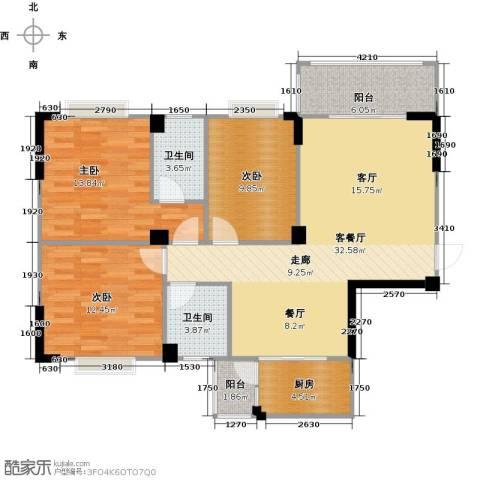阳光花园3室1厅2卫1厨109.00㎡户型图