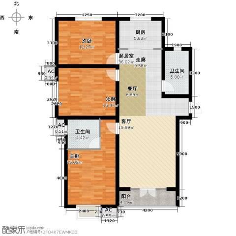 水榭花城3室0厅2卫1厨142.00㎡户型图