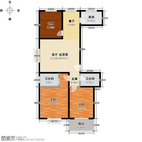 安鑫苑3室0厅2卫1厨150.00㎡户型图