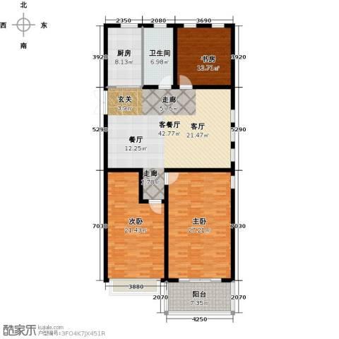 正德广场3室1厅1卫1厨144.00㎡户型图