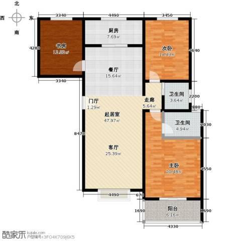 安鑫苑3室0厅2卫1厨164.00㎡户型图
