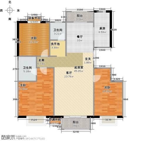 中冶世家3室0厅2卫1厨143.00㎡户型图