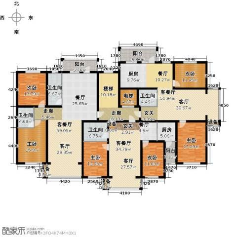 金港湾二期6室3厅4卫1厨416.00㎡户型图