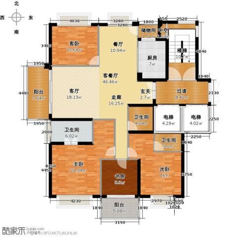 栖霞栖园4室1厅3卫1厨171.00㎡户型图