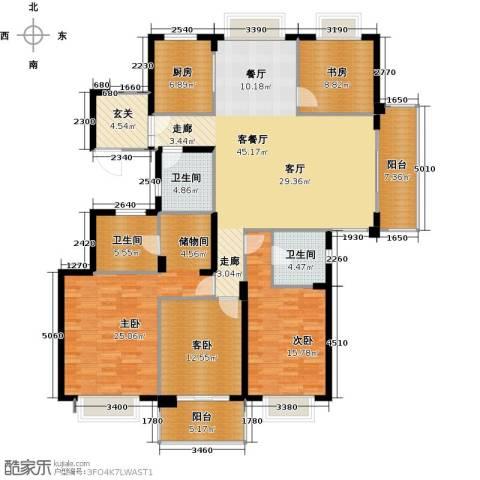 栖霞栖园4室1厅3卫1厨162.00㎡户型图