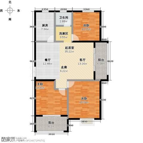 提香湾3室0厅1卫1厨138.00㎡户型图