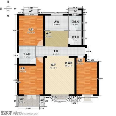 水榭花城3室0厅2卫1厨138.00㎡户型图