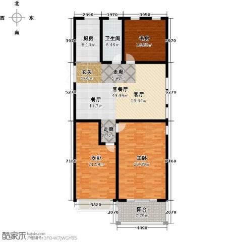 正德广场3室1厅1卫1厨148.00㎡户型图