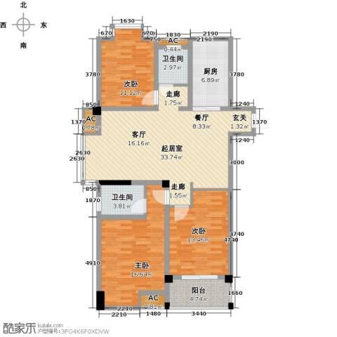 东方尚院3室0厅2卫1厨111.00㎡户型图