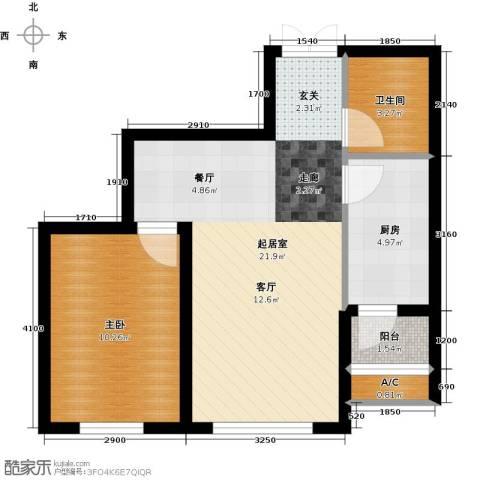 龙泽国际1室0厅1卫1厨54.00㎡户型图