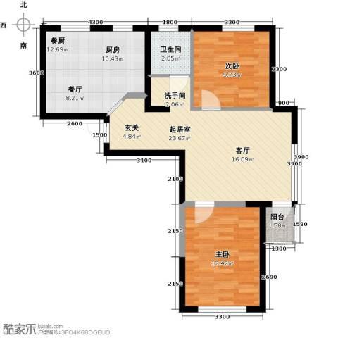 钻石9座2室0厅1卫0厨90.00㎡户型图