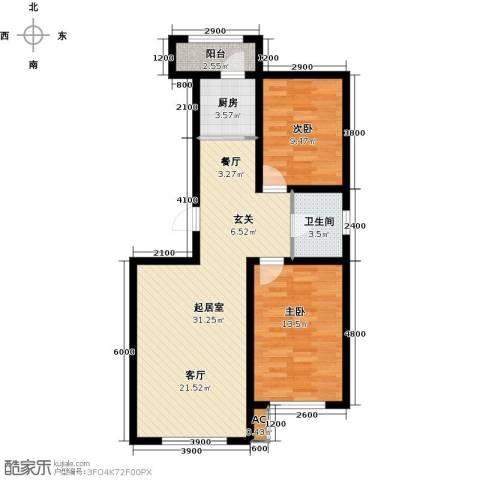 诺睿德国际商务广场2室0厅1卫1厨96.00㎡户型图