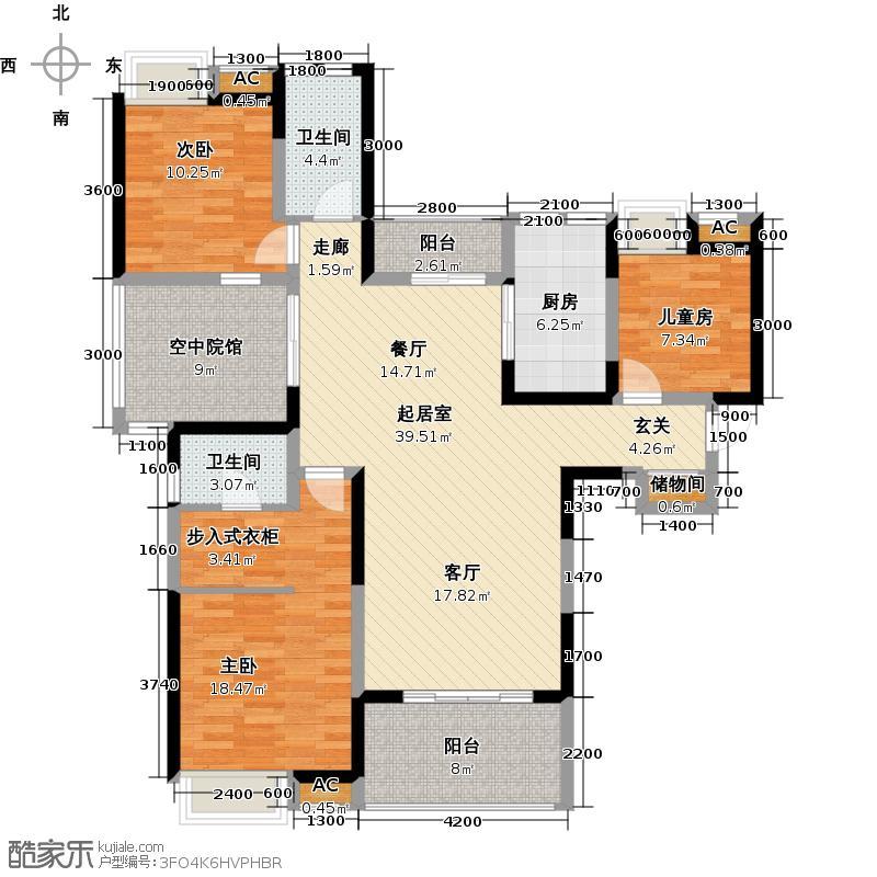 百瑞景中央生活区B3户型QQ