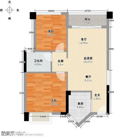 盈悦豪庭2室0厅1卫1厨69.00㎡户型图