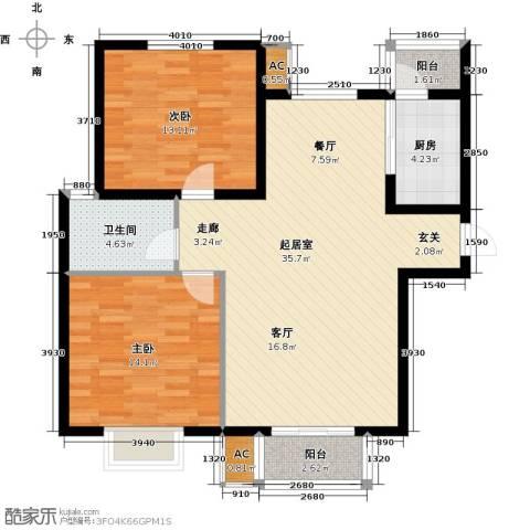 浩友凤凰城2室0厅1卫1厨110.00㎡户型图