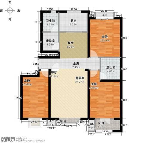 水榭花城3室0厅2卫1厨139.00㎡户型图