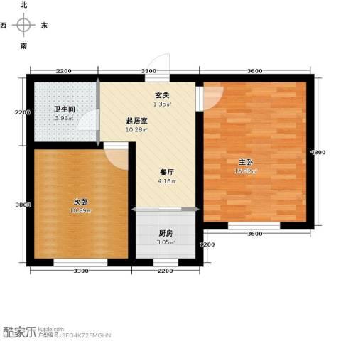 诺睿德国际商务广场2室0厅1卫1厨65.00㎡户型图
