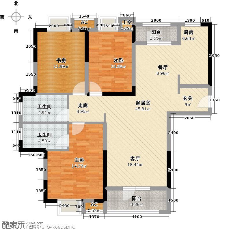 华润置地橡树湾137.00㎡3室2厅2卫户型3室2厅2卫QQ