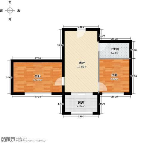 杏林湾2室1厅1卫1厨69.00㎡户型图