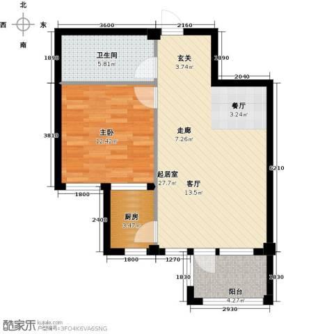 戴河庭院1室0厅1卫1厨75.00㎡户型图