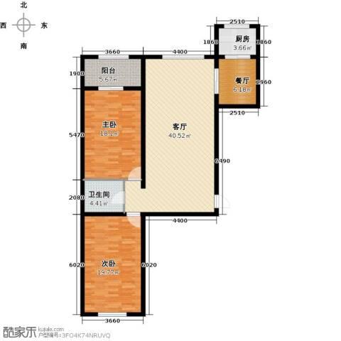 杏林湾2室2厅1卫1厨138.00㎡户型图