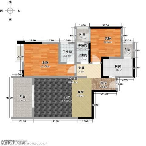 筑境100二期2室0厅2卫1厨101.00㎡户型图