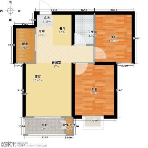 光华里2室0厅1卫1厨92.00㎡户型图