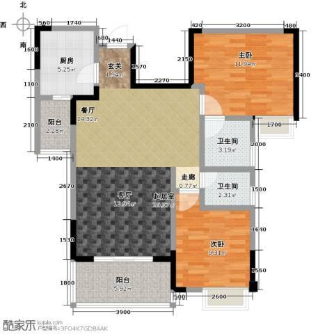 筑境100二期2室0厅2卫1厨100.00㎡户型图