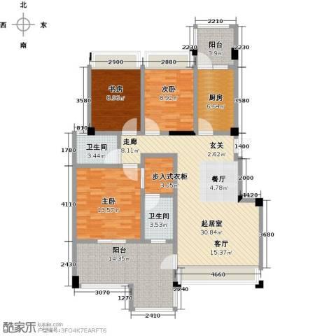 钻石铭苑3室0厅2卫1厨116.00㎡户型图