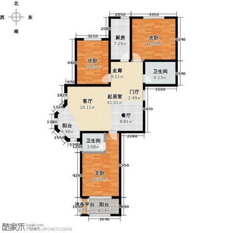 香榭丽都3室0厅2卫1厨122.00㎡户型图