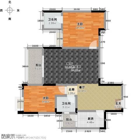 筑境100二期2室0厅2卫1厨108.00㎡户型图