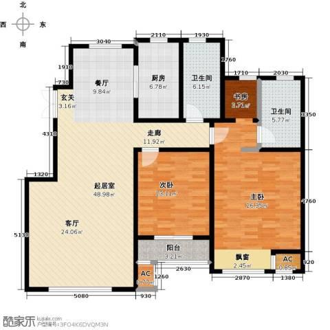 松江城玫瑰郡2室0厅2卫1厨140.00㎡户型图