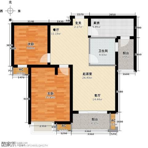 福德庄园2室0厅1卫1厨105.00㎡户型图