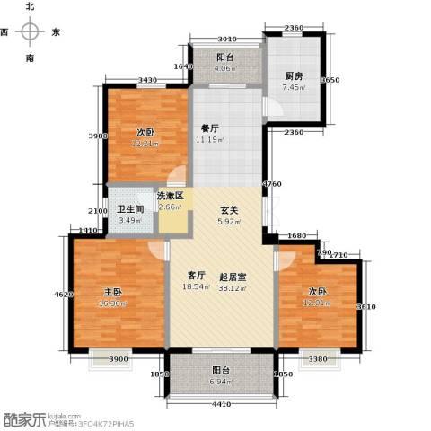 提香湾3室0厅1卫1厨141.00㎡户型图