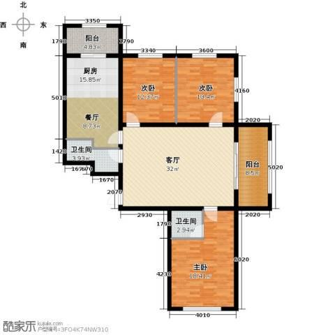 杏林湾3室1厅2卫1厨158.00㎡户型图