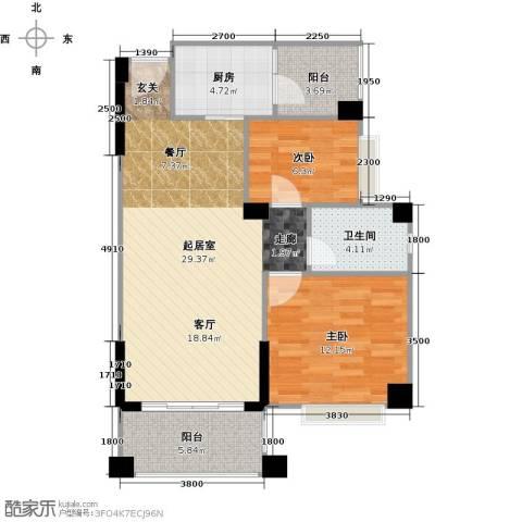 贝迪豪庭2室0厅1卫1厨81.00㎡户型图