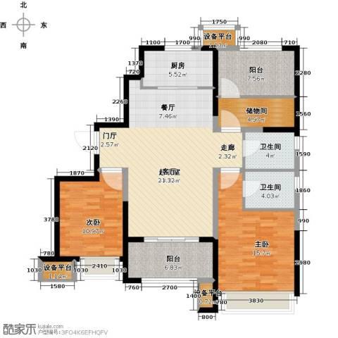 锦绣天地2室0厅2卫1厨118.00㎡户型图