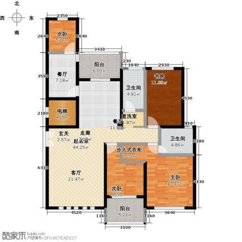 钻石铭苑4室1厅2卫0厨138.00㎡户型图