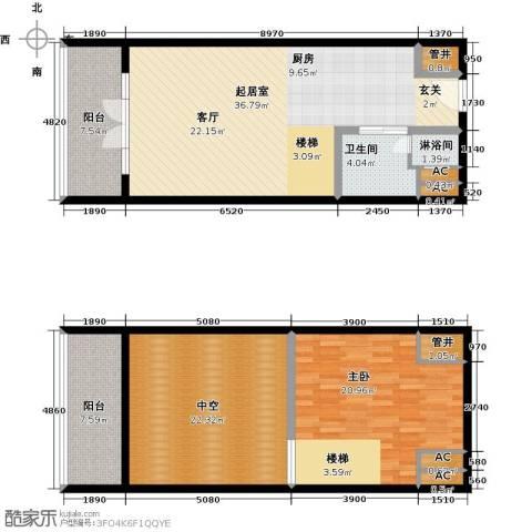 金隅朗峰1室0厅1卫0厨104.44㎡户型图