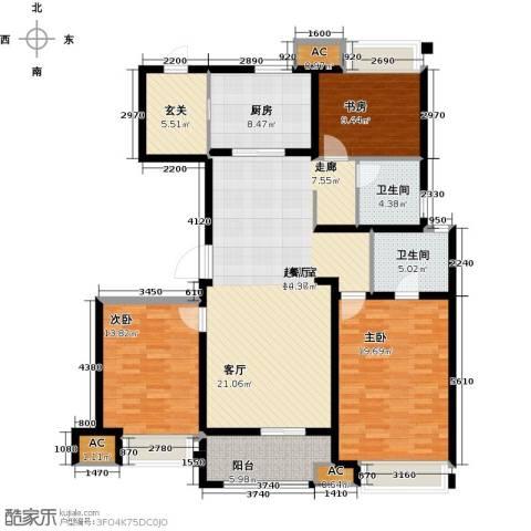 万科金色里程3室0厅2卫1厨165.00㎡户型图