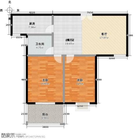 提香湾2室0厅1卫1厨111.00㎡户型图