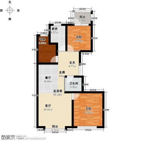 鼎盛国际3室0厅1卫1厨119.00㎡户型图