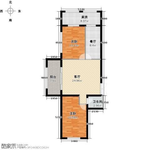 杏林湾2室2厅1卫1厨116.00㎡户型图
