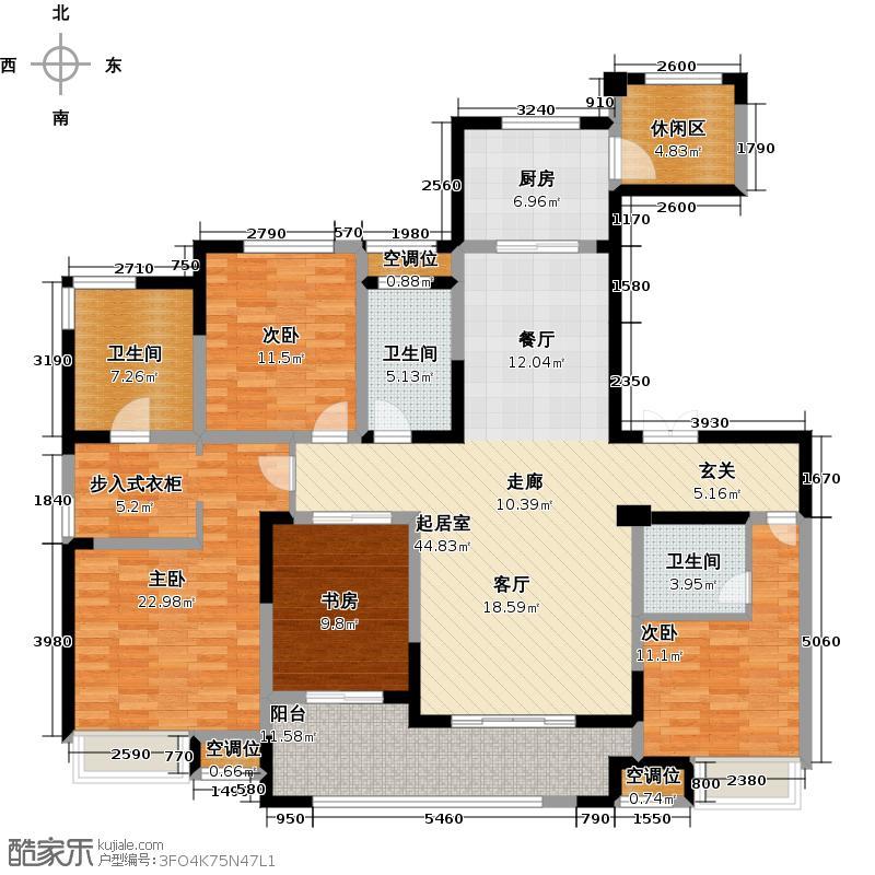 融绿�园18#楼165平公寓户型