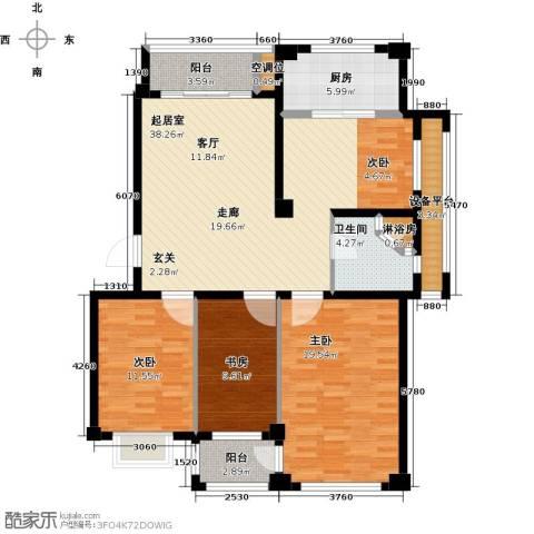 盛德山水绿城3室0厅1卫1厨116.00㎡户型图