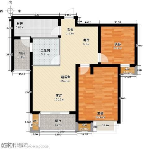 福德庄园2室0厅1卫1厨104.00㎡户型图