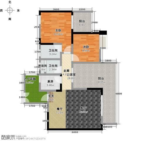 筑境100二期2室0厅2卫1厨126.00㎡户型图
