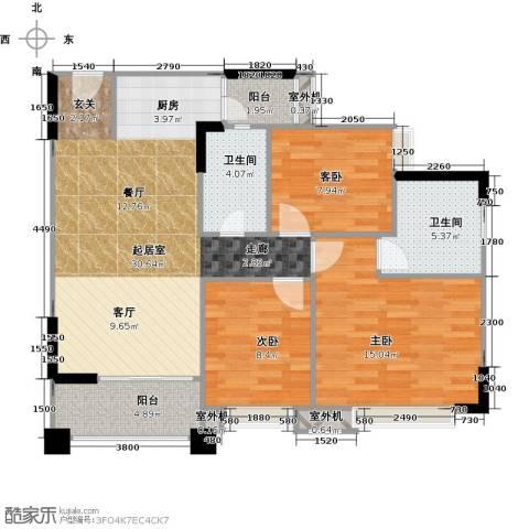 贝迪豪庭3室0厅2卫0厨95.00㎡户型图