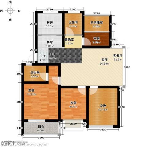 世纪绿城4室1厅2卫1厨103.00㎡户型图