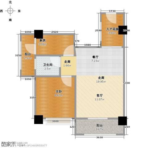 长兴99号公馆1室0厅1卫1厨59.00㎡户型图